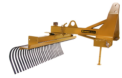 Landscape Root Rake : Landscape rake for compact tractors everything attachments